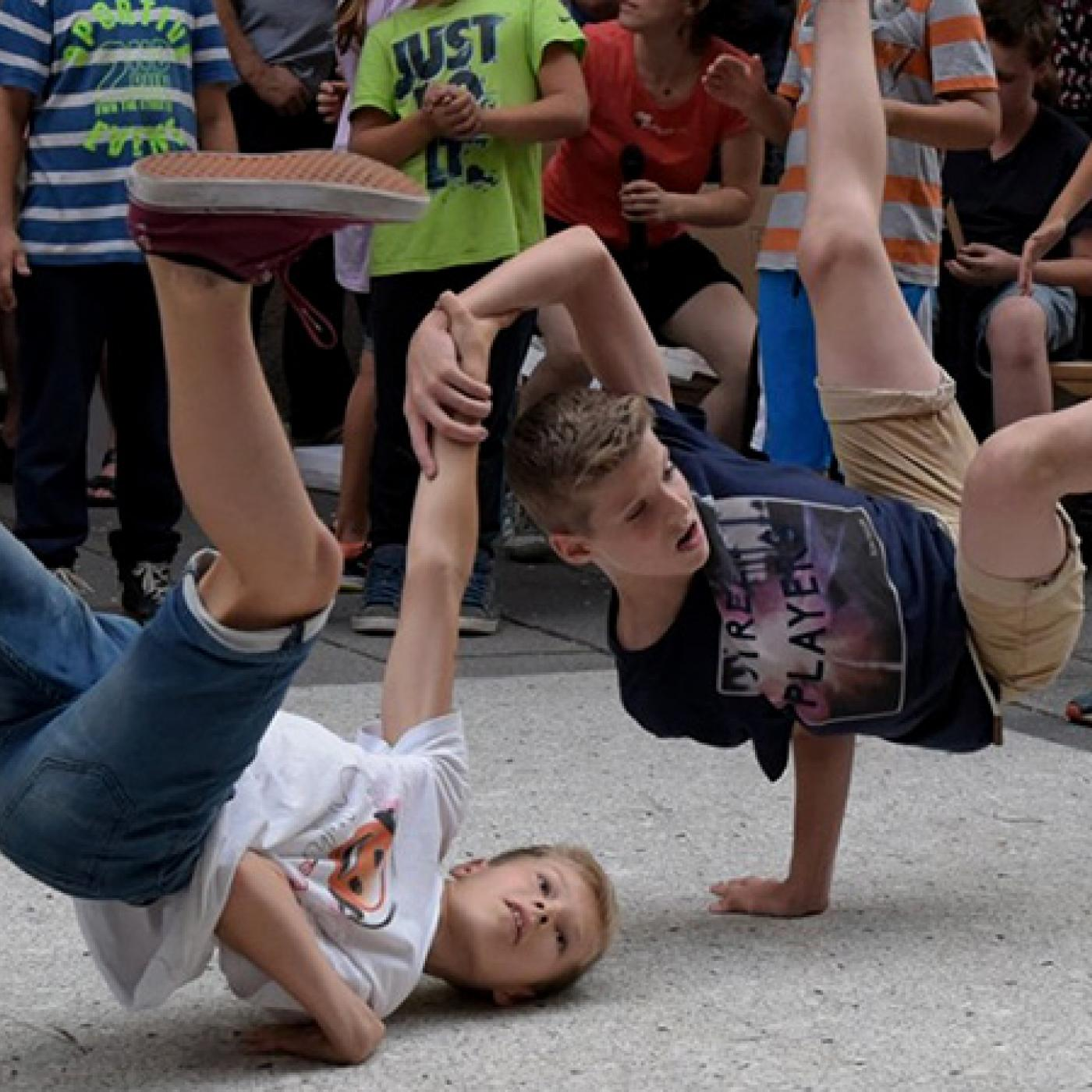 Breakdance im Kinderkulturzentrum Kuddelmuddel.