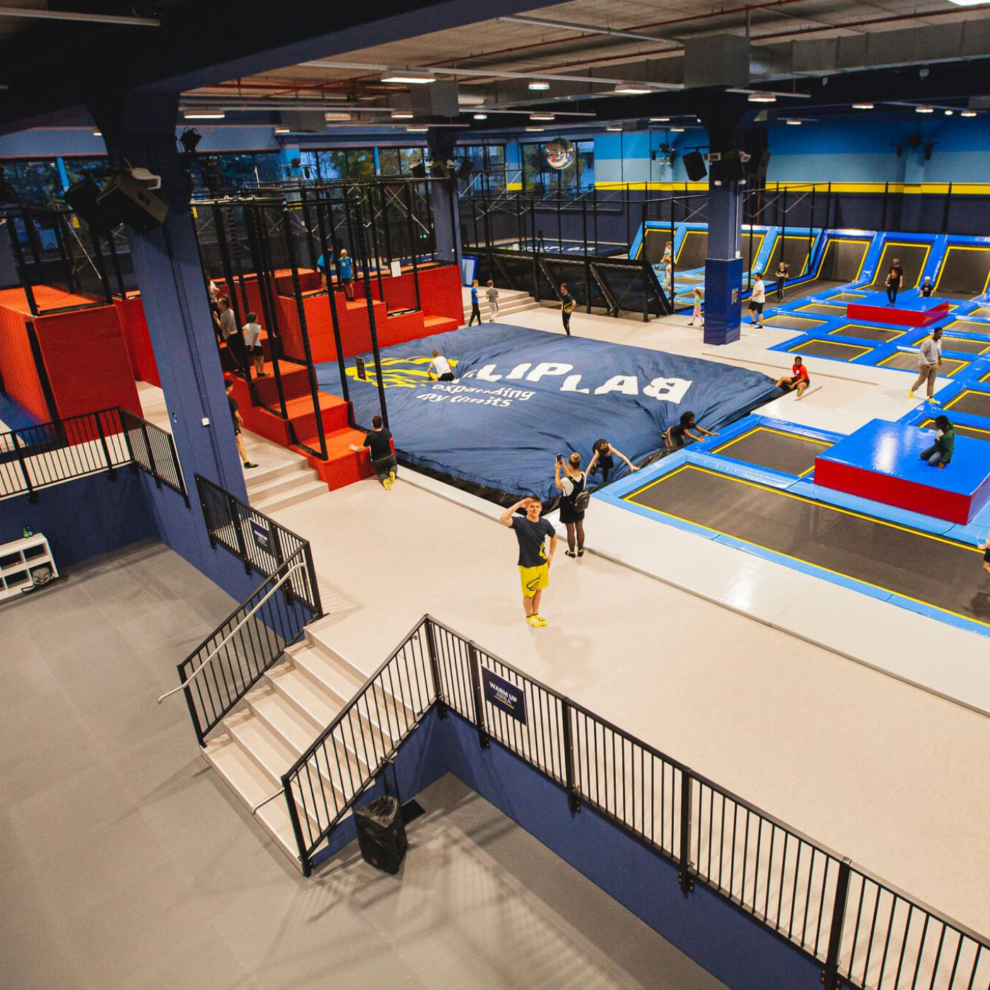 Trampolinpark Flip Lab Center Graz.