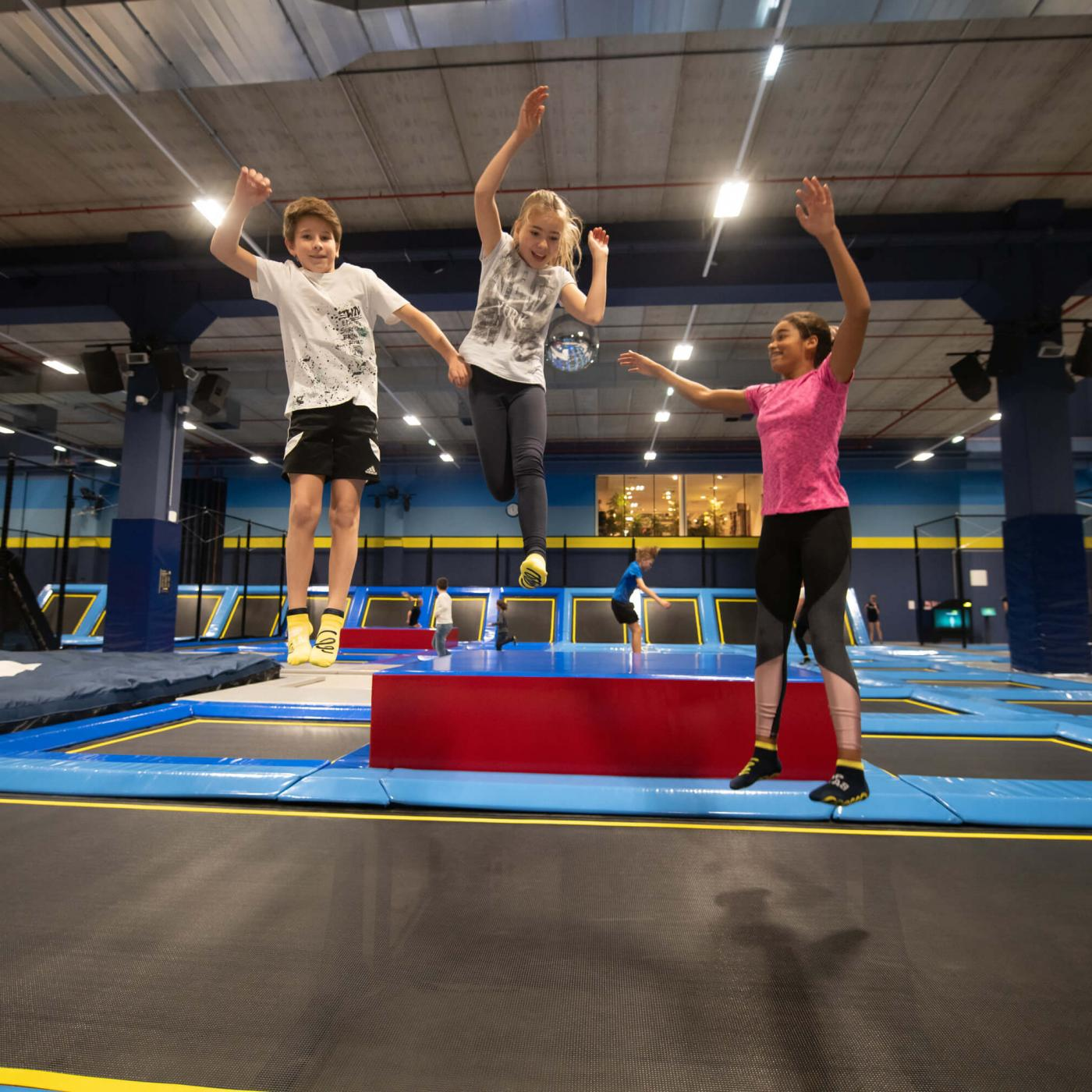 Trampolin-Park im Flip Lab Center in Graz.