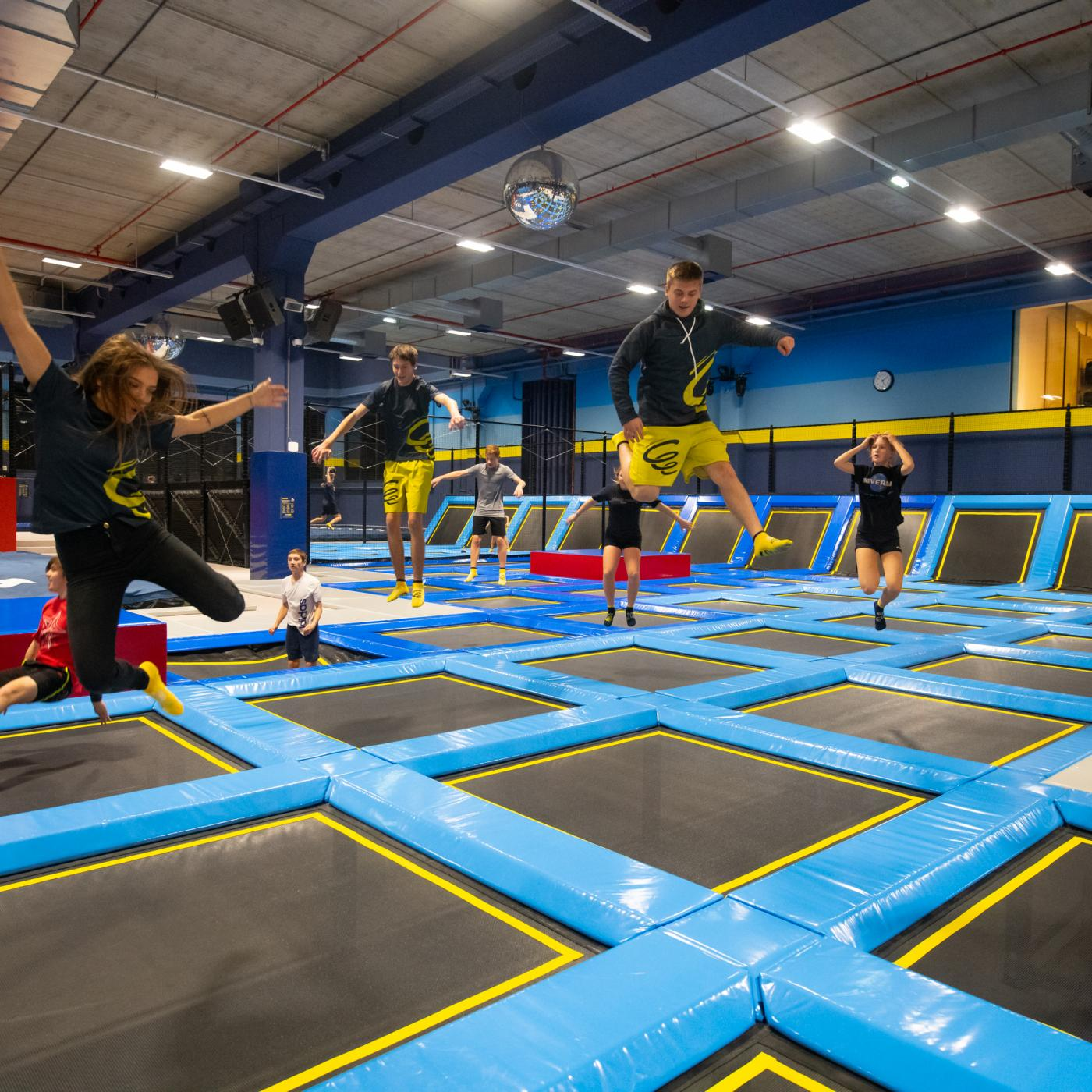 Trampolin Indoorspielplatz Flip Lab Center in Graz.